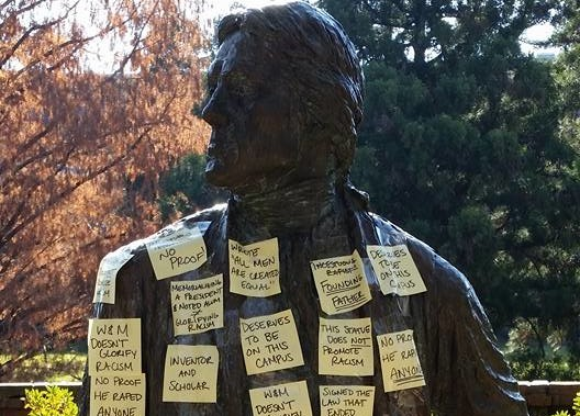 Jefferson statue attacked, defended in Debate Society event