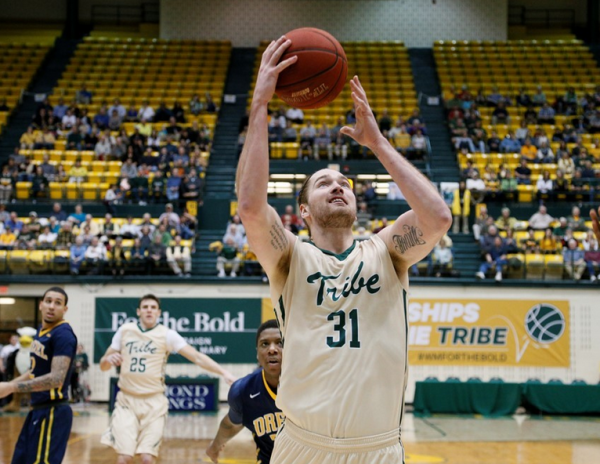Men's basketball: Tribe rebounds from Senior Day loss with 75-65 win at Elon