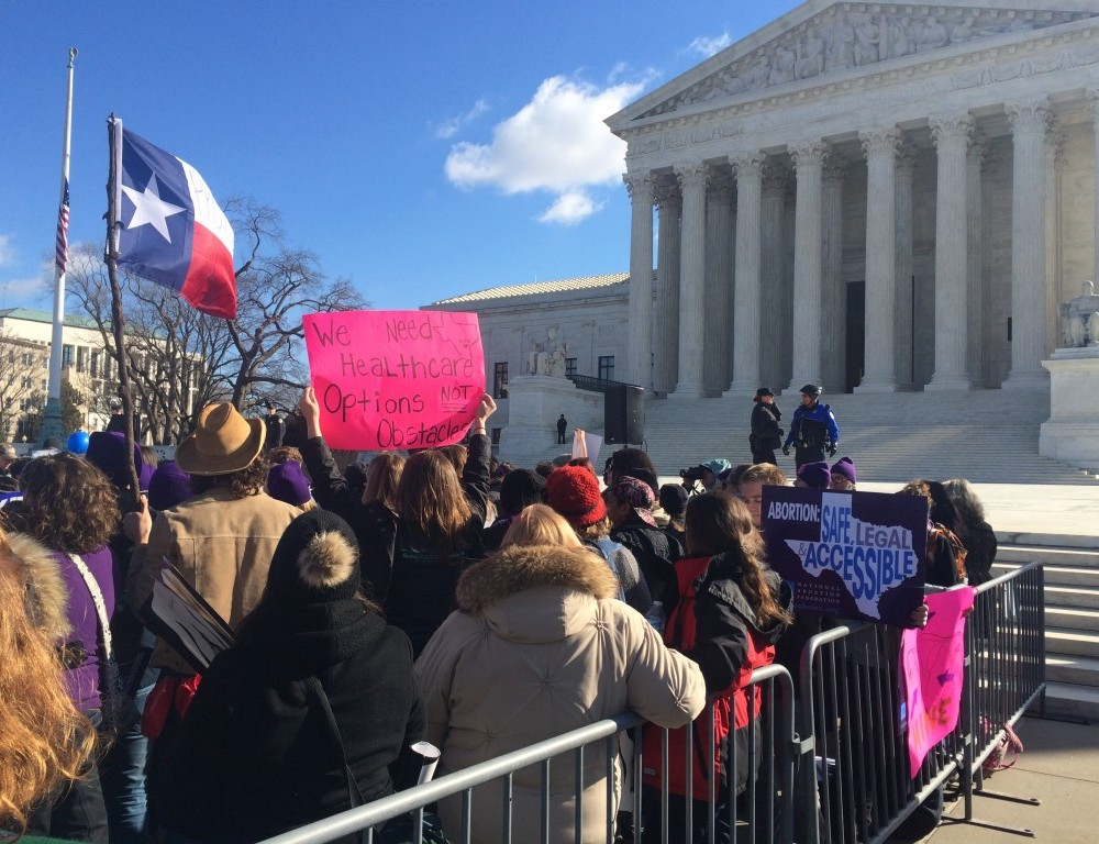 Students rally for abortion access at Supreme Court