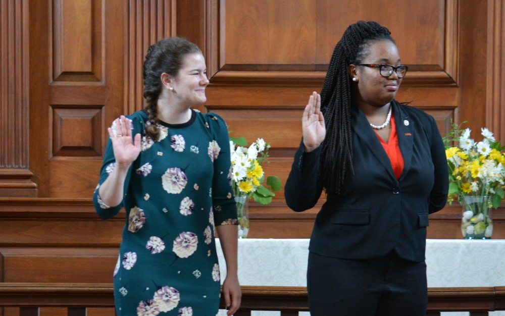Brown sworn into Student Assembly presidency