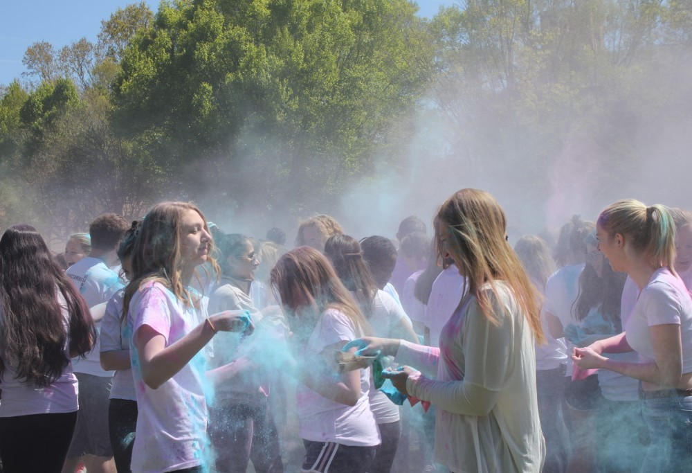 Holi Festival adds a splash of color to the Sunken Garden