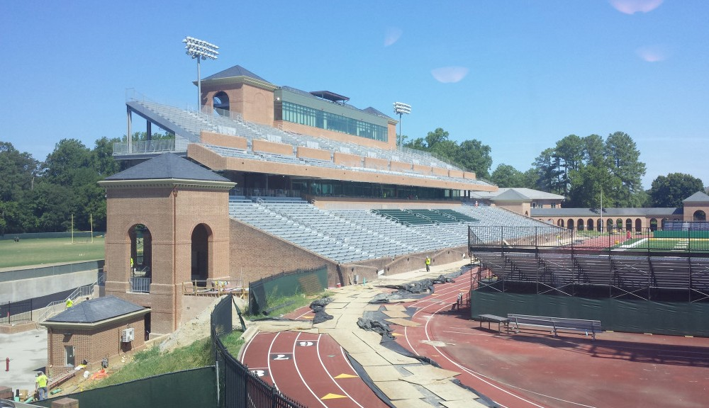 Football: Zable Stadium nears completion