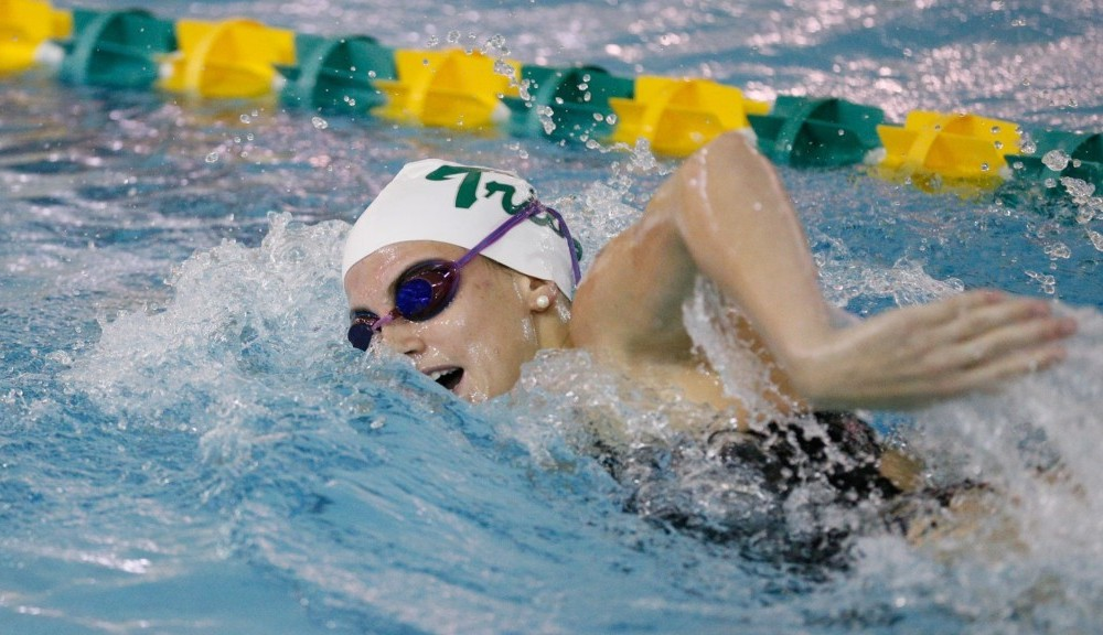 Swimming: College defeats West Virginia, shows promise at Virginia Tech quad meet
