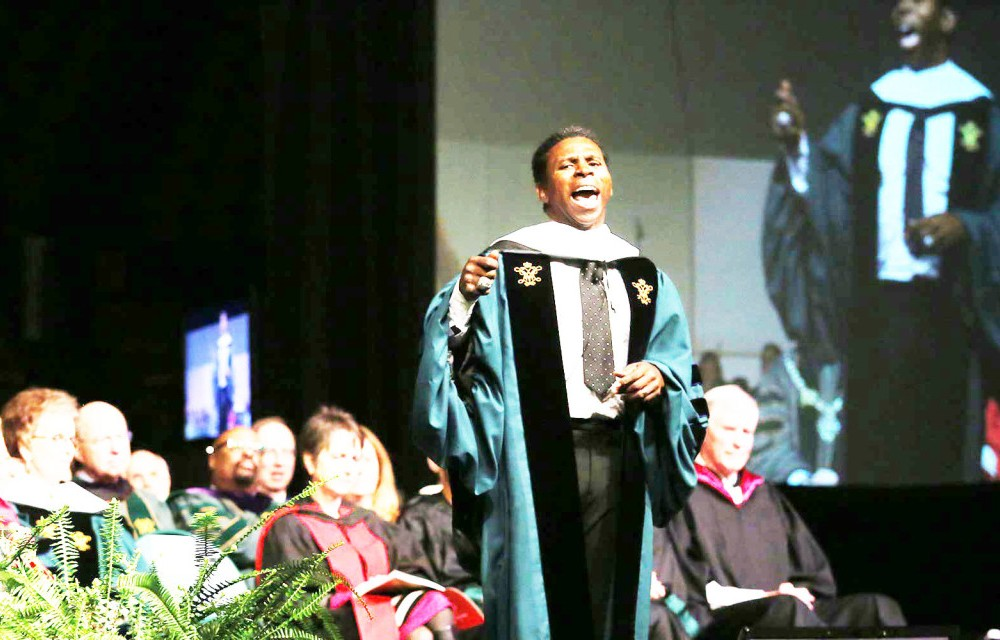 College awards faculty prizes at Charter Day, gives honorary degrees to West, Clemons