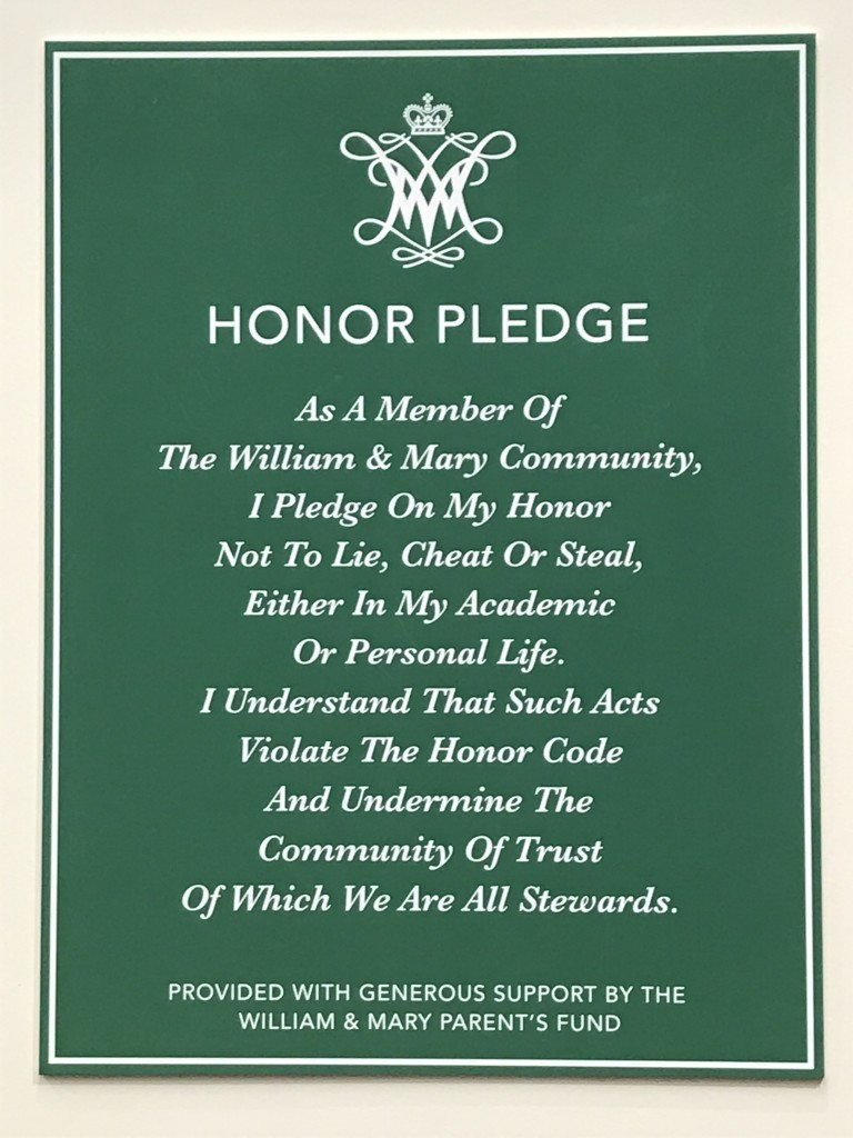 Honor code sign design: Questionable at best
