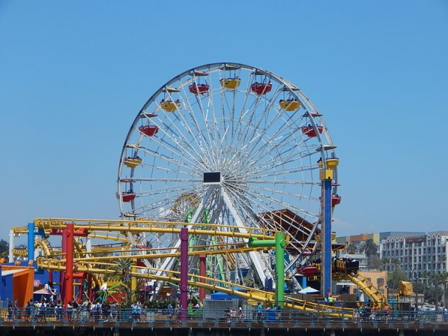 For the Bold takes a ride on Santa Monica Ferris wheel, lights up L.A. coastline