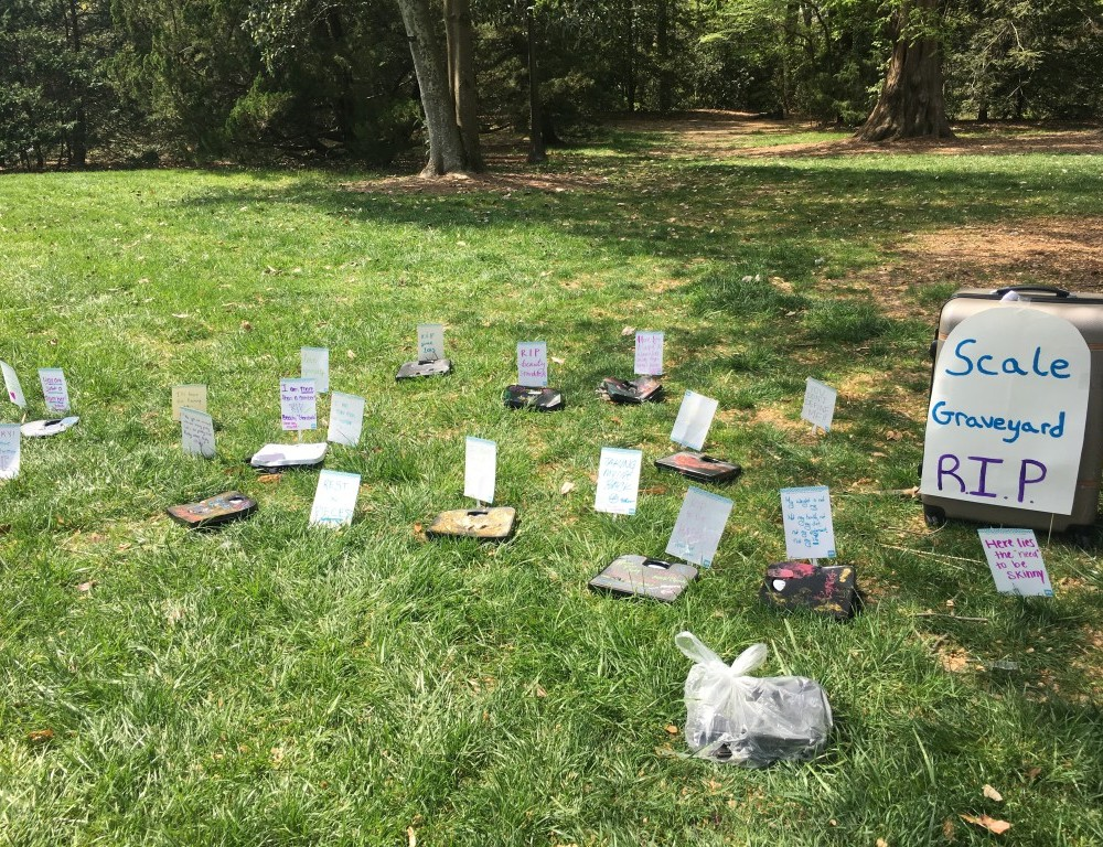 Students smash scales to fight eating disorders, start conversation