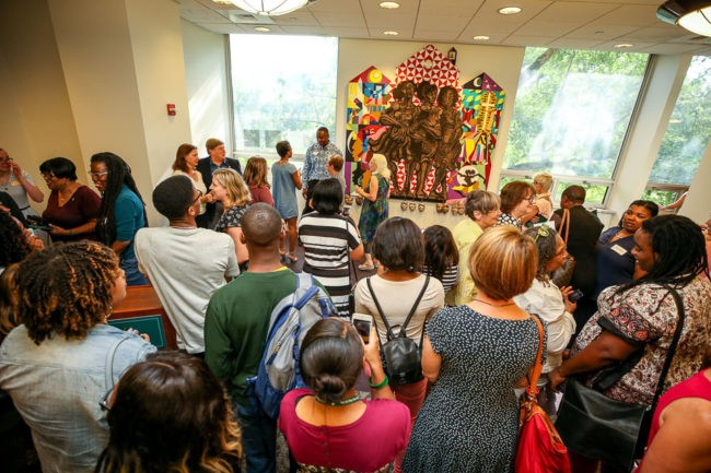 College unveils anniversary mural in Swem
