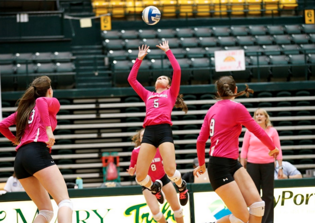 Volleyball: Tribe drops two straight to Delaware, Towson