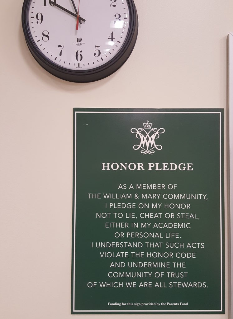 Honor code sign changes pass the test