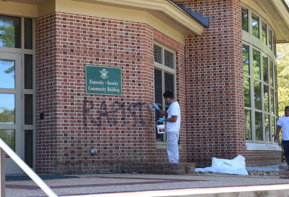 Graffiti found on fraternity houses: WMPD unsure who spray-painted 'rapist' on buildings