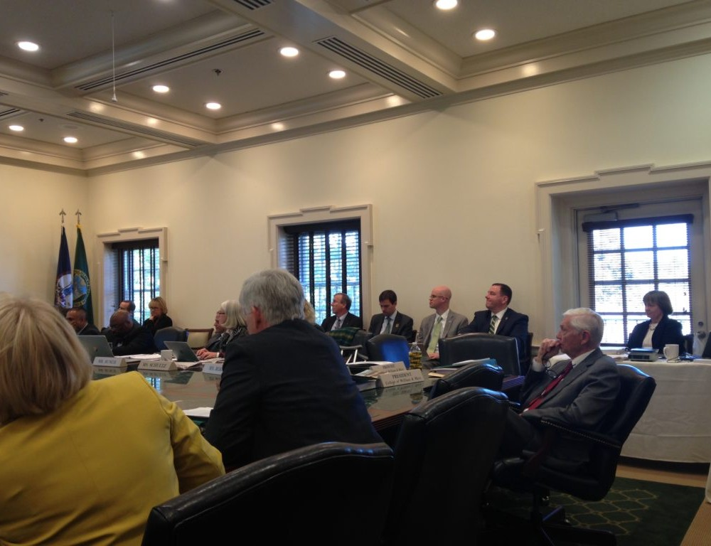 Board of Visitors meets to approve 18 resolutions in November session