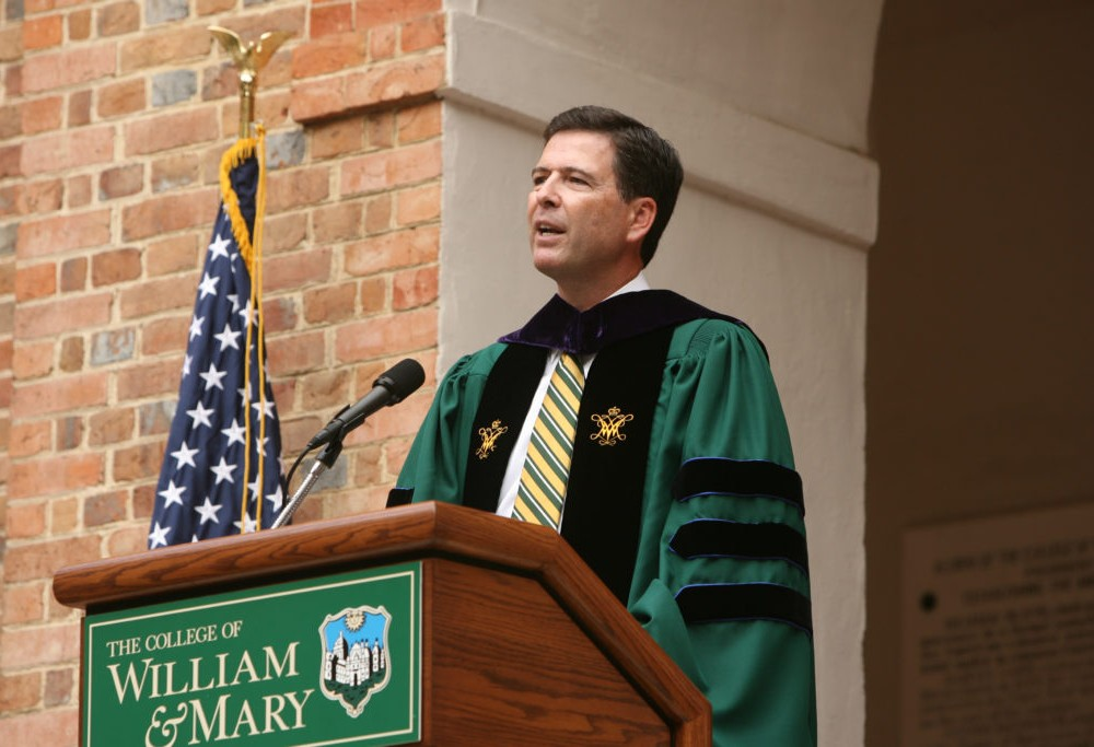 College's Washington Center to host class co-taught by former FBI Director James Comey '82