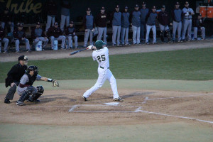Junior first baseman Michael Katz leads the the conference in home runs. JACKSON REALO / THE FLAT HAT