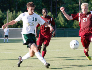 Senior midfielder Chris Albiston had a goal and an assist over the weekend. COURTESY PHOTO / TRIBE ATHLETICS