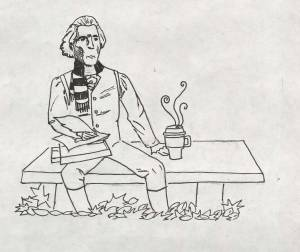 Even Thomas Jefferson enjoyed a nice cup of cider every now and then. CARTOON BY SARAH / THE FLAT HAT