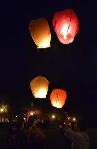 The lanterns take flight. ALISON SHOMAKER / THE FLAT HAT