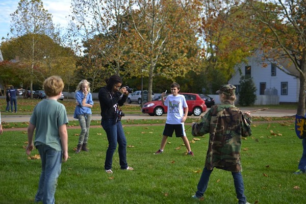 COURTESY PHOTO / TIM BARNARD. Local students participated in film projects.
