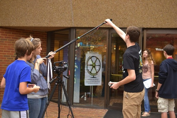 COURTESY PHOTO / TIM BARNARD. The assignment for the students is to create a film using the prop of a recycled wheel and the theme of renewal.