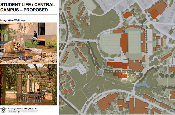 An Integrative Wellness Center will replace the Lodges. COURTESY PHOTO / WM.EDU