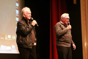 Eenhoorn and Nelson participated in a question and answer session after the film. COURTESY PHOTO / STEPHANIE FAUCHER