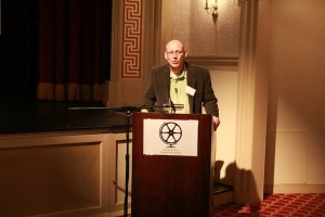 Professor Timothy Barnard introduced the film. COURTESY PHOTO / STEPHANIE FAUCHER