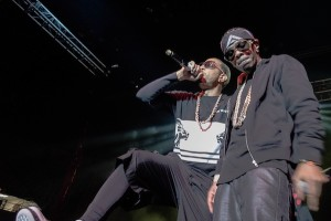The rapper was joined by his childhood friend Lil' Fade on stage. NEIL CHHABRA / THE FLAT HAT