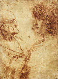 The exhibit contains more than 20 drawings, including ''Study of the Heads of an Old Man and a Youth.'' COURTESY PHOTO / WM.EDU