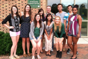 The Forsyth lab team poses in front of the ISC. COURTESY PHOTO /  FORSYTH LAB