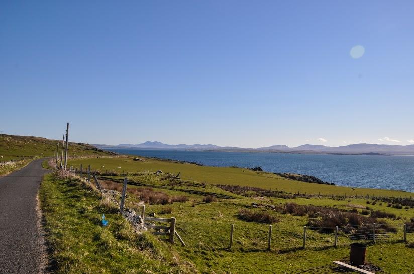 Green Hills overlooking sea