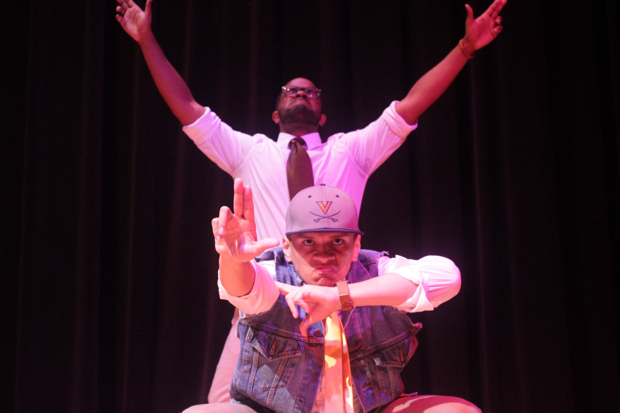 Lambda Upsilon Lambda's school project themed performance earned first place in Friday's stroll competition. COURTESY PHOTO / TATIANA LISCHEN BULL