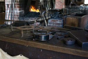 The blacksmith shop